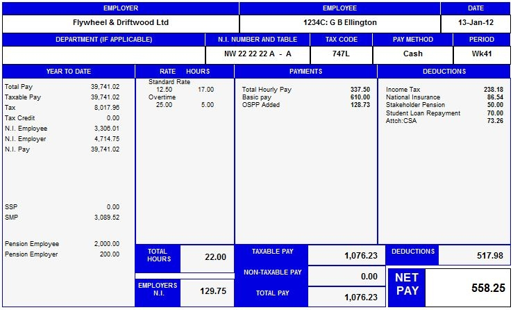 Wage Payslip Template. Basic Payslip Template Excel 673473-Simple