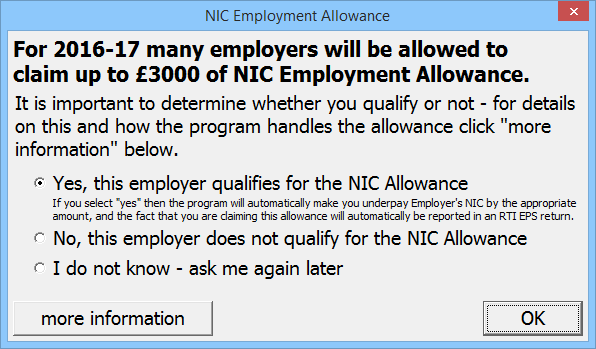 Allowance for people aged 60 to 64 – Overview