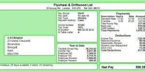 Moneysoft DL 3 per page Payslip