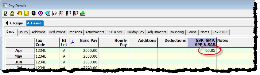 pay details ssp