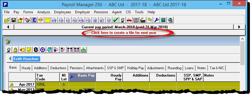create file next year