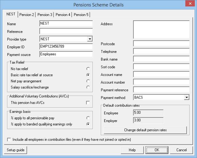 NEST Pension scheme details