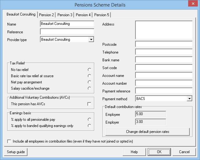 pension scheme details