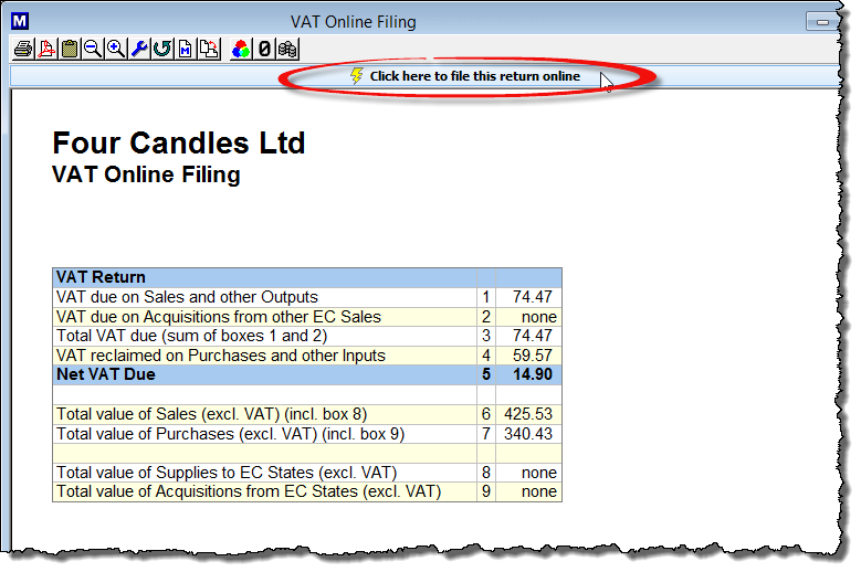 File MTD VAT online