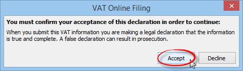VAT declaration