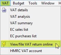 view file VAT return