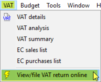 file VAT return