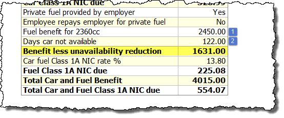 fuel benefit calculation