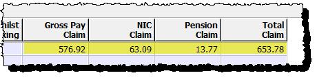claim amounts