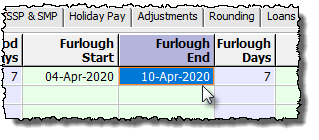 furlough end