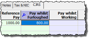 pay whilst firloughed amount